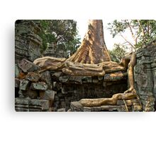 Rooted in the Past - Temples of Angkor, Cambodia Canvas Print