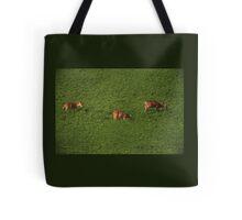 Deer in Bean Field Tote Bag