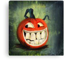 Cheeky Jack O Lantern Canvas Print