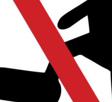 NO Dominatrix ~ Slave Femdom BDSM Sign Sticker