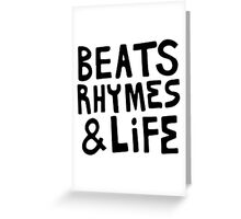 A Tribe Called Quest Beats, Rhymes & Life Greeting Card