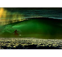 albert munoz.kneeboard surfing Photographic Print