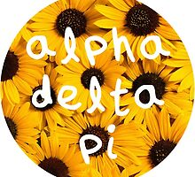Alpha Delta Pi-Sunflowers by adpithon