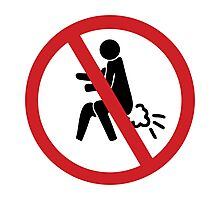 NO Farting Sign Photographic Print