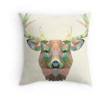 Abstract Big Buck Throw Pillow