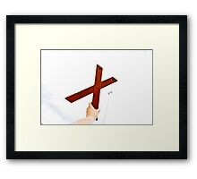 X marx the space Framed Print