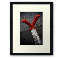 X marx the edge Framed Print