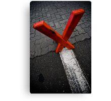 X marx the edge Canvas Print