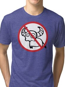 NO Water Buffalo Sign Tri-blend T-Shirt