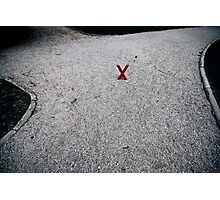 X marx the X-roads Photographic Print