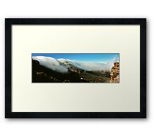 waterfall of clouds - The Grampians Framed Print