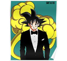 Goku in Suit and Tie Poster