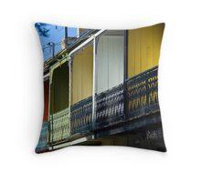 Row Houses Throw Pillow