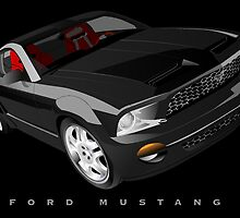 Ford Mustang - Black by Greg Hamilton
