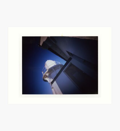 Taking Point Lighthouse - Poalroid pinhole 2 Art Print