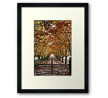Autumn Gateway Framed Print