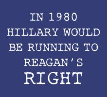 In 1980 Hillary would be running to Reagan's right! by Ithacaboy