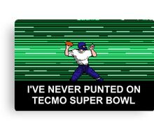 NES Nintendo Tecmo Super Bowl Never Punted Canvas Print