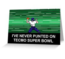 NES Nintendo Tecmo Super Bowl Never Punted Greeting Card