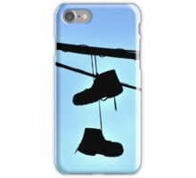 HUNG BOOTS iPhone Case/Skin