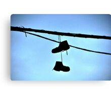HUNG BOOTS Canvas Print