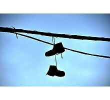 HUNG BOOTS Photographic Print