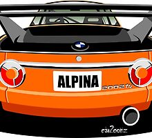 BMW 2002 tii Alpina rear view by car2oonz