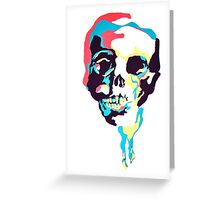 Silk Screen Skull Greeting Card