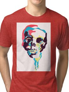 Silk Screen Skull Tri-blend T-Shirt
