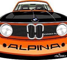 BMW 2002 tii Alpina orange by car2oonz