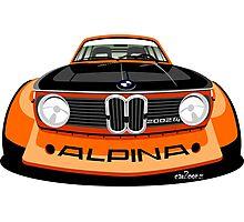 BMW 2002 tii Alpina orange Photographic Print