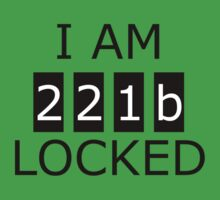 I am 221b locked Kids Clothes