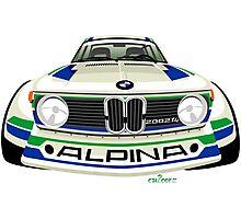 BMW 2002 tii Alpina white Photographic Print