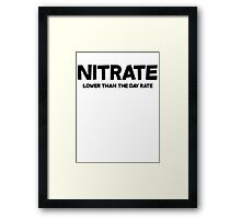 Nitrate Lower than the day rate Framed Print