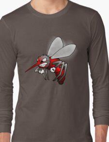 """""""Fighting Skeeter"""" cartoon t-shirt Long Sleeve T-Shirt"""