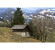 An Old, Wooden Chalet. Photographic Print