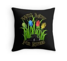 Will mow for rupees Throw Pillow