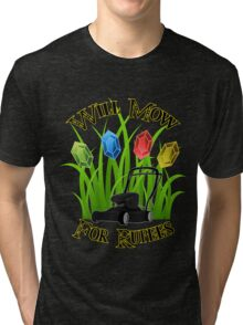 Will mow for rupees Tri-blend T-Shirt
