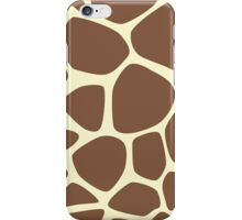 Animal Print (Giraffe Pattern) - Brown Yellow  iPhone Case/Skin