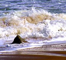 Tides frothy waves by Beth BRIGHTMAN