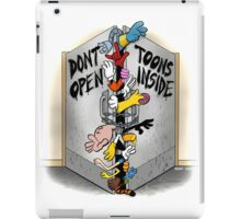 Don't open, TOONS inside. iPad Case/Skin