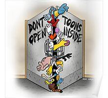 Don't open, TOONS inside. Poster