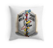 Don't open, TOONS inside. Throw Pillow