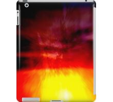 Dry brush abstract sunset iPad Case/Skin