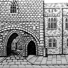 256 - ABBEY ARCH, NORTHGATE STREET, CHESTER DAVE EDWARDS - INK 2014 by BLYTHART