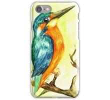 King Fisher Bird Watercolours iPhone Case/Skin