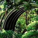 BRIDGE IN GOLDEN GATE PARK JAPANESE GARDEN by Thomas Barker-Detwiler