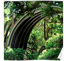 BRIDGE IN GOLDEN GATE PARK JAPANESE GARDEN Poster