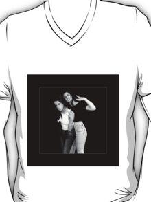 Camren Black and white T-Shirt