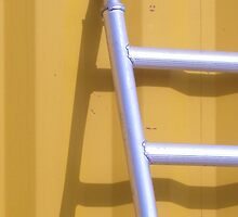 Ladder on Yellow by stooferdoofer